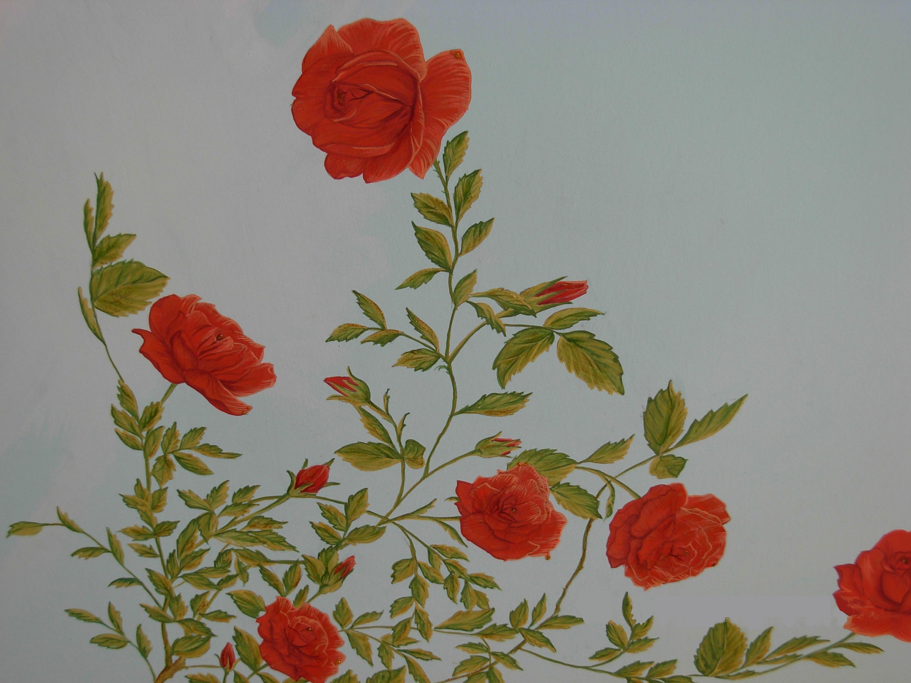Quadri e poesie trompe l oeil trevignano for Quadri con rose rosse